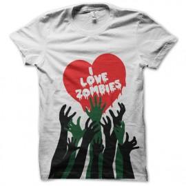 t-shirt i love zombies