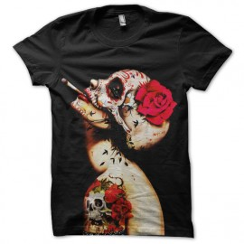 tee shirt tatoo girl qui fume