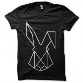 minimal techno rabbit t-shirt