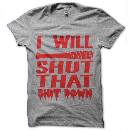walking dead negan lucille bloody t-shirt