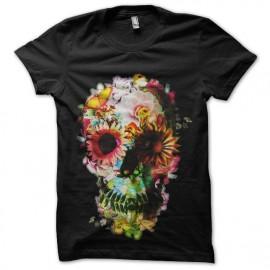 skeleton flowers t-shirt
