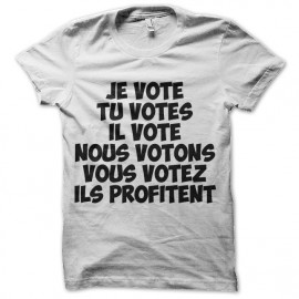 tee shirt elections presidentielles votons