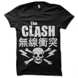 tee shirt the clash punk asiatique