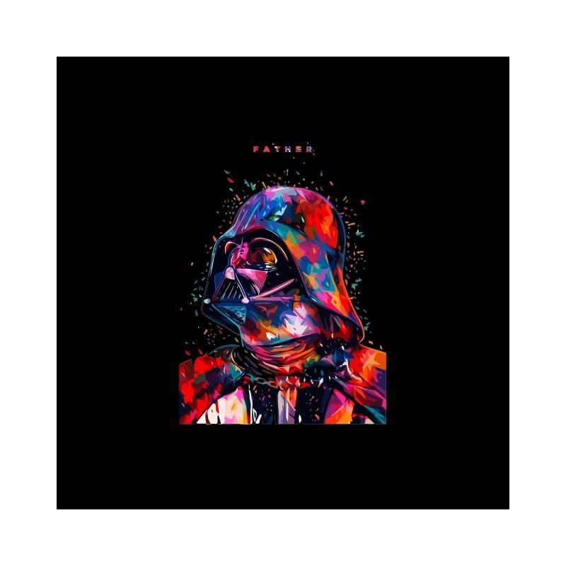 T Shirt Dark Vader Star Wars Pixels Father