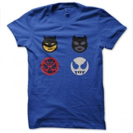 tee shirt icones de super heros