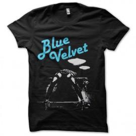 tee shirt blue velvet trame