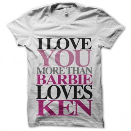tee shirt ken et barbie amoureux