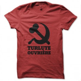 tee shirt turlute ouvriere politique humour