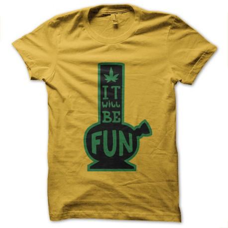 tee shirt le bang c est fun ganja