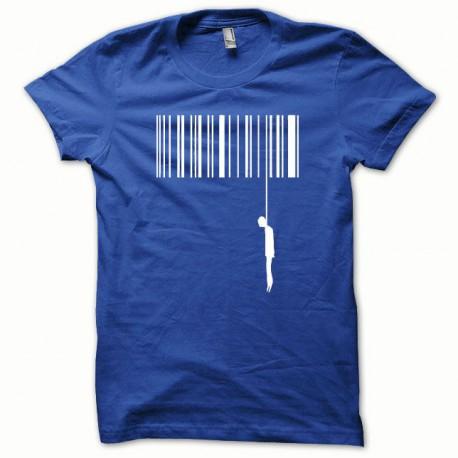 Tee shirt Suicide blanc/bleu royal