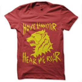 tee shirt house lannister rugissements