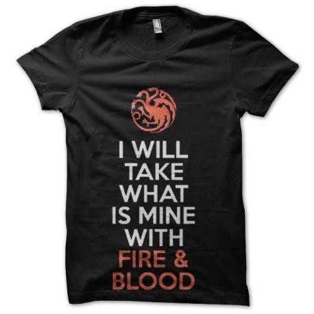 tee shirt fire blood targaryen game of thrones