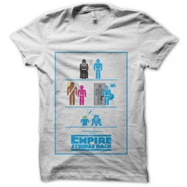tee shirt empire contre attaque pictogramme star wars