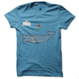tee shirt guide galactique baleine volante