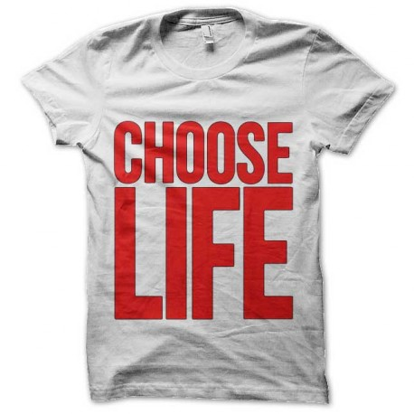 tee shirt choose life slogan trainspotting T2