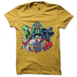 tee shirt mario bros super hero