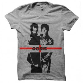 tee shirt oasis trame pop anglaise