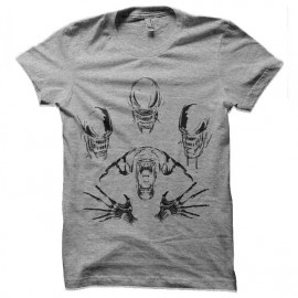 tee shirt alien evolution face