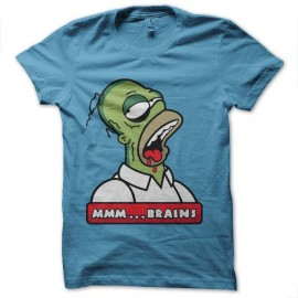 tee shirt homer simpson en zombi mr brain