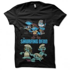 tee shirt Les Schtroumpfs version walking dead