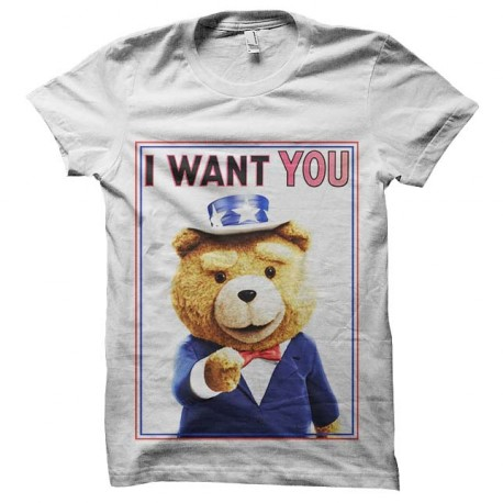 tee shirt ted i want you