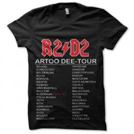 tee shirt star wars r2 d2 concert tour