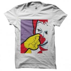tee shirt Ronald McDonald gros degeulasse