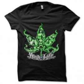 tee shirt ganja high light marijuana