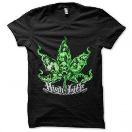tee shirt ganja high light marijuana