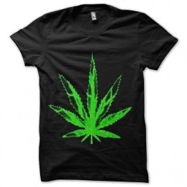 tee shirt feuille de marijuana trame
