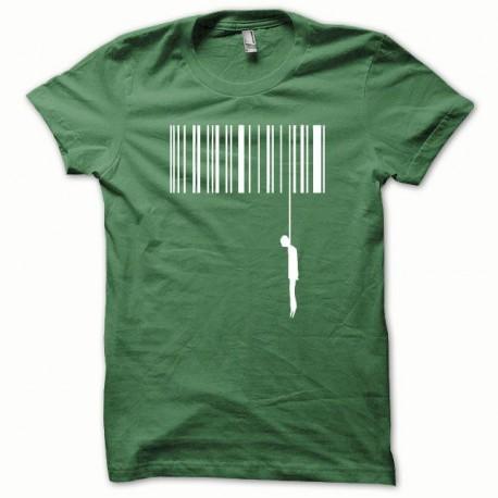 Tee shirt Suicide blanc/vert bouteille