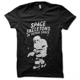 tee shirt space squelette