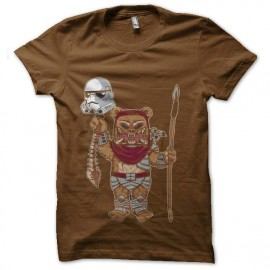 tee shirt ewok en predator vs stormtrooper