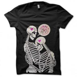 tee shirt squelettes amoureux