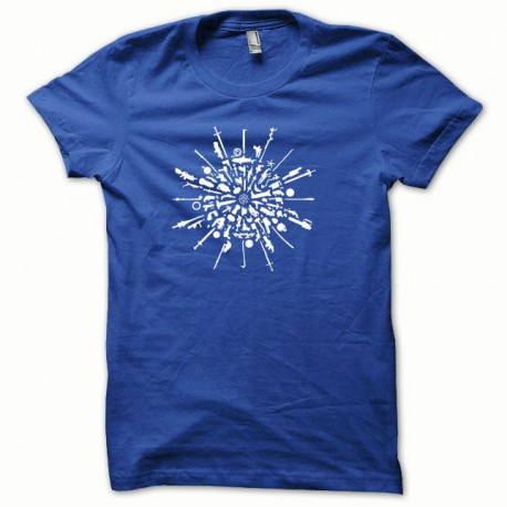 Tee shirt Armes et munitions blanc/bleu royal