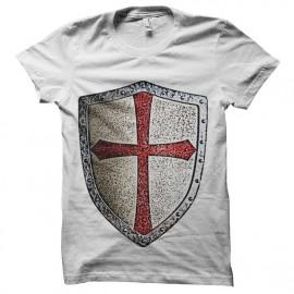 tee shirt chevalier templier bouclier