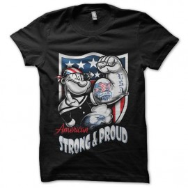tee shirt popeye get stronger