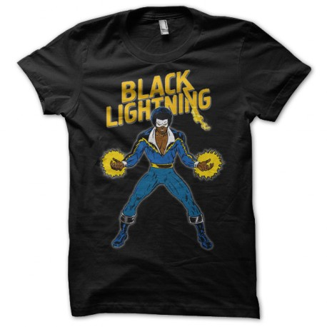 tee shirt Black Lightning