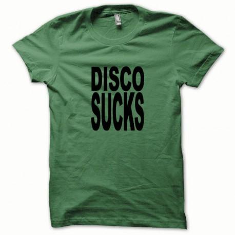 Tee shirt Disco Sucks noir/vert bouteille
