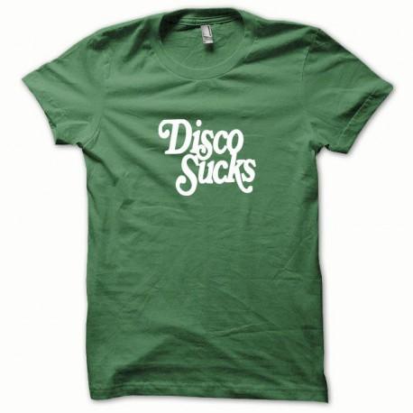 Tee shirt Disco Sucks blanc/vert bouteille
