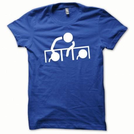 Tee shirt Dj at work blanc/bleu royal