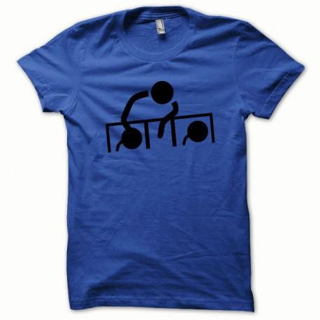 Tee shirt Dj at work noir/bleu royal