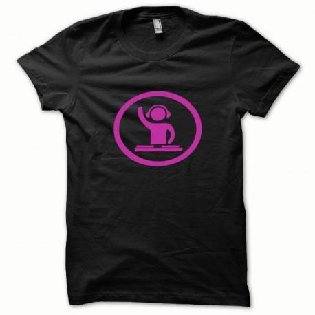 Tee shirt Dj at work rose/noir