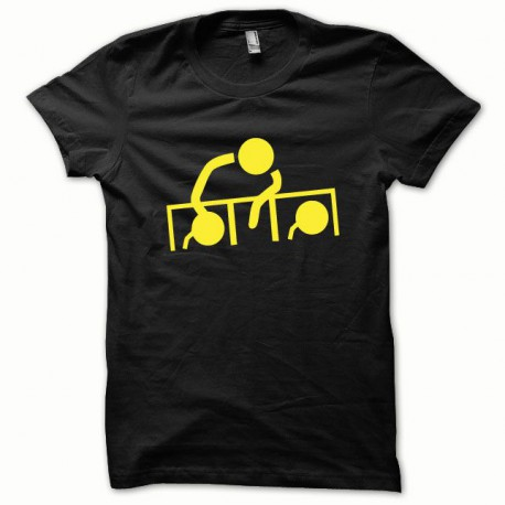 Tee shirt Dj at work jaune/noir