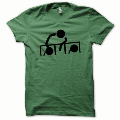 Tee shirt Dj at work noir/vert bouteille
