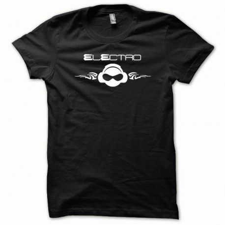 Tee shirt Electro blanc/noir