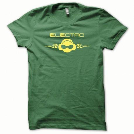 Tee shirt Electro jaune/vert bouteille