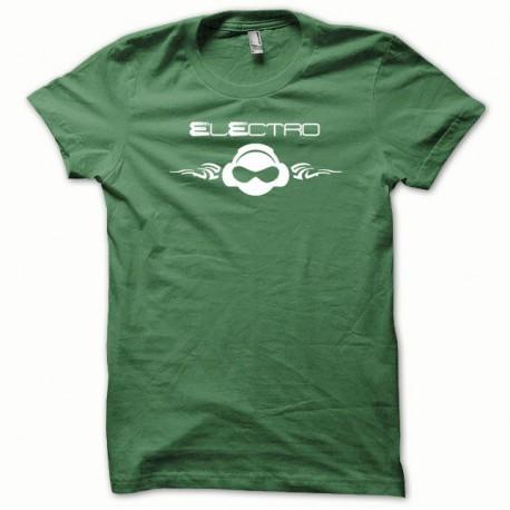 Tee shirt Electro blanc/vert bouteille