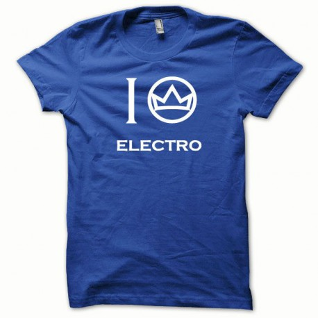 Tee shirt Electro blanc/bleu royal