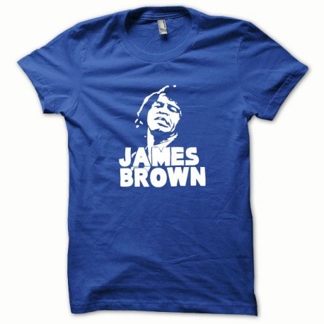 Tee shirt James Brown blanc/bleu royal